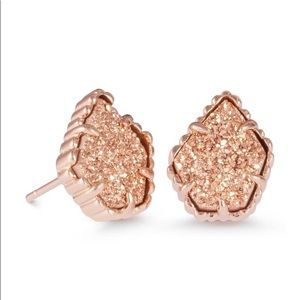 Kendra Scott Tessa Stud Eartings Rose Gold Drusy